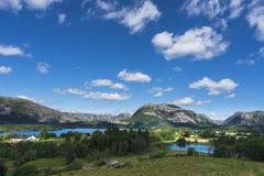 Zonnige dag in Noorwegen Royalty-vrije Stock Afbeelding