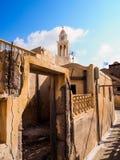 Zonnige dag op Santorini stock foto's