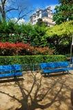 Zonnige dag in tuin Stock Foto's