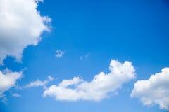 Zonnige dag, zonneschijn, blauwe hemel, Royalty-vrije Stock Afbeelding