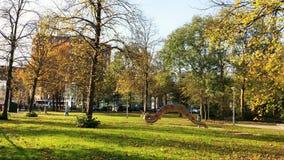 Zonnige de herfstdag in Amsterdam stock foto