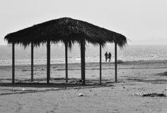 Zonnige de herfstochtend op de kust van de Zwarte Zee bij Navodari-strand Stock Afbeelding