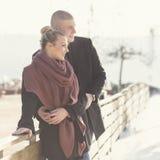 Zonnige de winterdag Stock Foto's