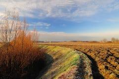Zonnige de winterdag in het laagland Royalty-vrije Stock Afbeelding