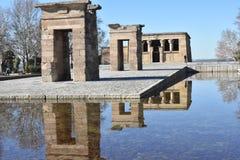Zonnige de winterdag in Madrid Spanje Royalty-vrije Stock Afbeelding