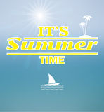 Zonnige de zomerachtergrond Royalty-vrije Stock Foto's