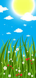 Zonnige de zomerdag stock illustratie