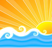 Zonnige de zomerwervelingen stock foto