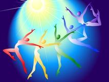 Zonnige gymnastiek- Royalty-vrije Stock Afbeelding