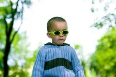 Zonnige jongen Stock Foto