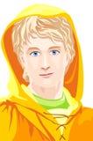 Zonnige jongen vector illustratie