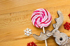Zonnige Kerstmisachtergrond Stock Foto