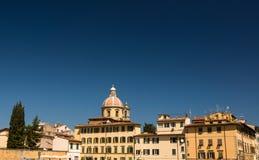 Zonnige mening van Kerk San Frediano in Cestello Royalty-vrije Stock Foto's