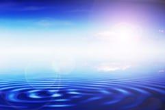 Zonnige oceaan stock illustratie