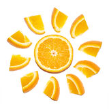 Zonnige sinaasappel Stock Foto