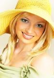 Zonnige vrouw. royalty-vrije stock afbeelding