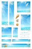 Zonnige zeegezichtachtergronden Stock Afbeelding