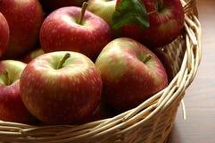 Zonovergoten appelen Stock Afbeeldingen