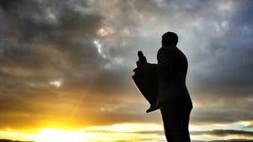 Zonreeksen op Grote Jock bij Keltisch Park royalty-vrije stock afbeelding
