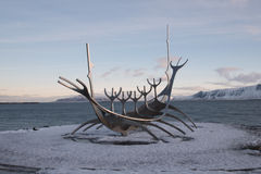 Zonreiziger, Reykjavik, IJsland Stock Afbeeldingen
