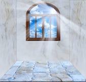 Zonruimte in het venster Stock Foto's