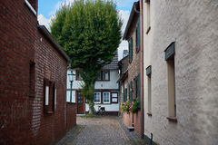 ZONS, GERMANY - SEPTEMBER 25, 2016: Narrow alley leads to a medieval House Royalty Free Stock Image