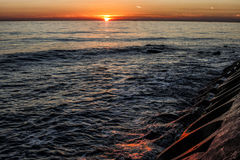 Zonsondergang in Ä°stanbul Royalty-vrije Stock Afbeeldingen