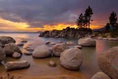 Zonsondergang 1 van Tahoe Stock Fotografie