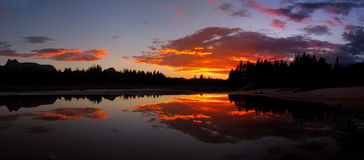 Zonsondergang 1 van Tuolumne Stock Foto
