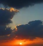 zonsondergang Royalty-vrije Stock Foto's