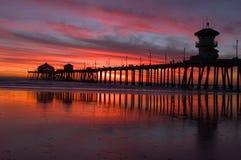 Zonsondergang 2 van de pijler Royalty-vrije Stock Foto's