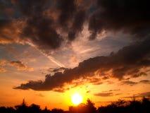 Zonsondergang 2 van de wolk Royalty-vrije Stock Afbeeldingen