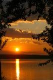 Zonsondergang. Royalty-vrije Stock Afbeelding