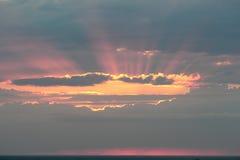 Zonsondergang. Stock Afbeeldingen