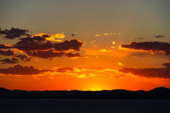 Zonsondergang. Stock Fotografie