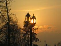 zonsondergang Royalty-vrije Stock Afbeelding