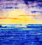 Zonsondergang. stock illustratie