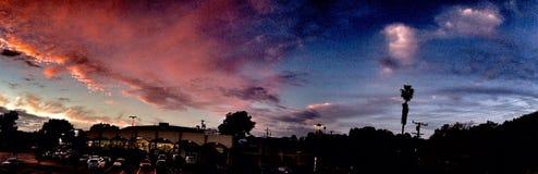 Zonsondergang stock foto
