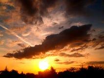 Zonsondergang 5 van de wolk Royalty-vrije Stock Foto