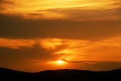 Zonsondergang Stock Afbeeldingen
