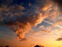 Zonsondergang 7 van de hemel Stock Afbeeldingen
