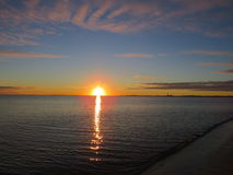 Zonsondergang, aard Stock Afbeeldingen