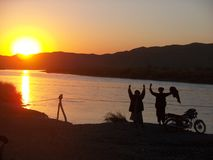 Zonsondergang in Afghanistan Royalty-vrije Stock Afbeelding