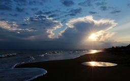 Zonsondergang in Antalya Royalty-vrije Stock Afbeeldingen