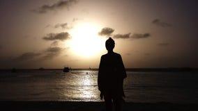 Zonsondergang Aruba royalty-vrije stock afbeeldingen