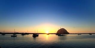 Zonsondergang, Baai Morro Royalty-vrije Stock Afbeeldingen