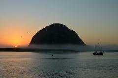 Zonsondergang in Baai Morro royalty-vrije stock afbeelding