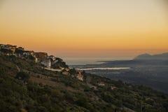 Zonsondergang in Baunei, Sardinige royalty-vrije stock fotografie