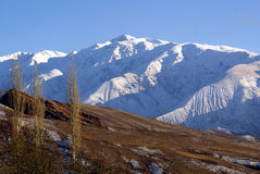 Zonsondergang in berg Stock Fotografie