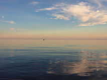 Zonsondergang bij Adriatische overzees Stock Afbeelding